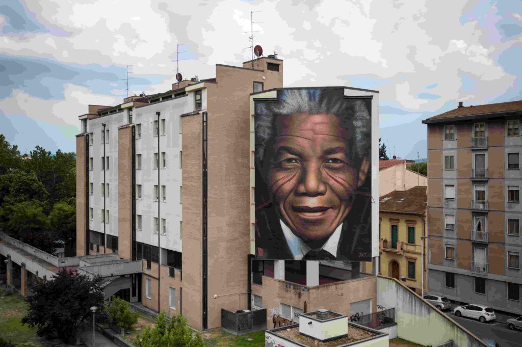 Nelson Mandela di Jorit 1